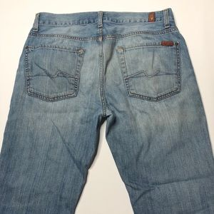 7 For All Mankind Light Wash Slimmy Jeans Size 33